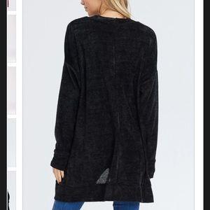 Cherish Sweaters - Cherish Chenille Cardigan - Black